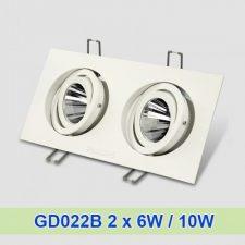 Đèn âm trần GD022B 2 x 6W/ 10W