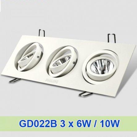 Đèn âm trần Philips GD022B 3 x 6/10W