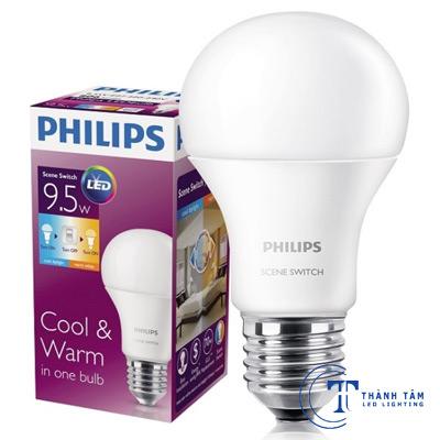 Bóng LED bulb 9.5W Philips
