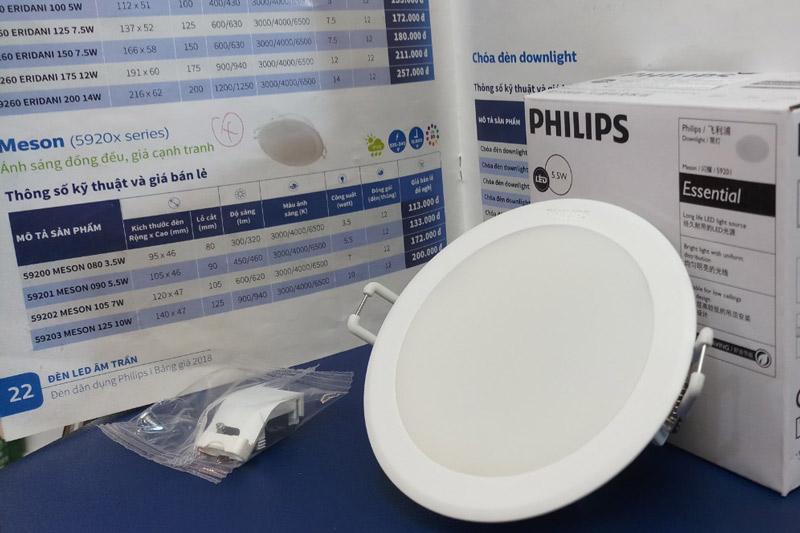 Báo giá đèn âm trần Philips chi tiết nhất