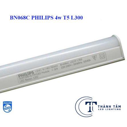 Đèn tuýp led BN068C Philips 4w T5 L300 Liền Máng