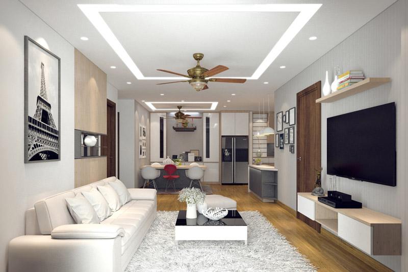 Kinh nghiệm chọn đèn led âm trần phòng khách phù hợp từng không gian